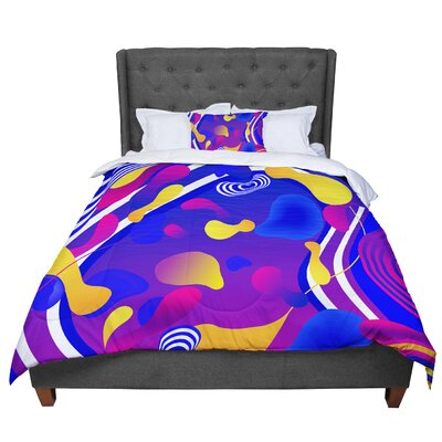 Danny Ivan Bubbles Comforter Size: Queen