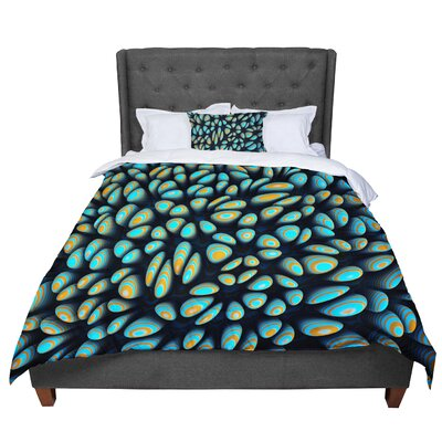 Danny Ivan Blobbly Pattern Comforter Size: King