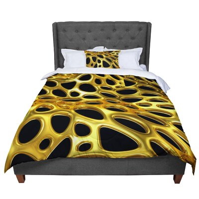 Danny Ivan Voronoi Illustration Comforter Size: Queen