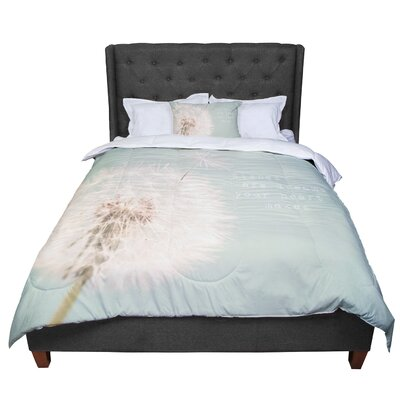 Debbra Obertanec Wishes are Dreams Fuzzy Comforter Size: Queen