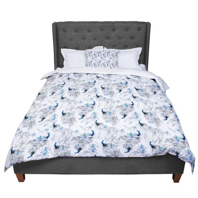 Danii Pollehn Peacock Fun Animal Pattern Comforter Size: King