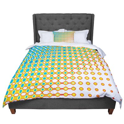 Dawid Roc Psychedelic Art Comforter Size: King