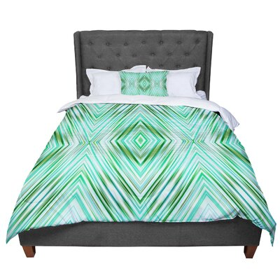Dawid Roc Colorful Tribal Ethnic Comforter Size: King, Color: Green