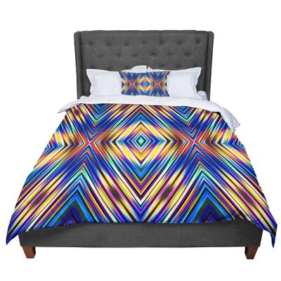Dawid Roc Colorful Tribal Ethnic Comforter Size: Twin, Color: Blue/Yellow