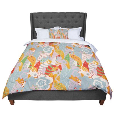 Akwaflorell Fishes Here There II Comforter Size: Twin