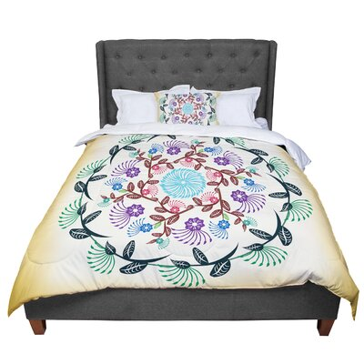 Famenxt Mandala Comforter Size: Twin