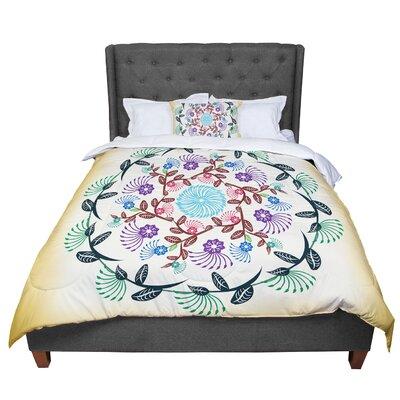 Famenxt Mandala Comforter Size: King