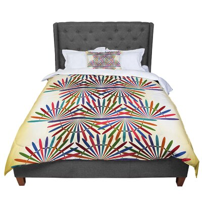 Famenxt Colorful Abstract Pattern Comforter Size: King
