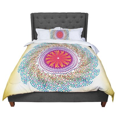 Famenxt Confetti Dots Mandala Abstract Comforter Size: Queen