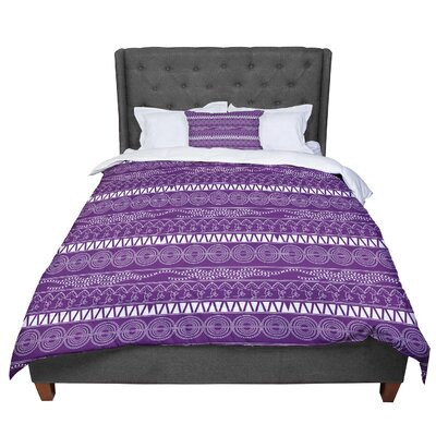 Famenxt Pattern Lavender Abstract Comforter Size: Twin
