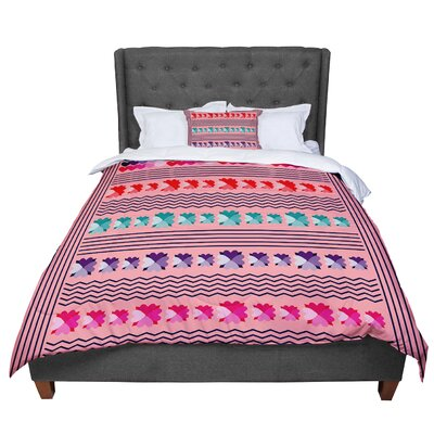 Famenxt Romantic Love Pattern Abstract Comforter Size: King