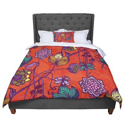 Gill Eggleston Garden Blooms Hot Floral Comforter Size: King