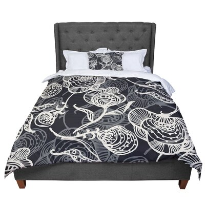 Gill Eggleston Future Nouveau Lite Comforter Size: Twin, Color: White/Black
