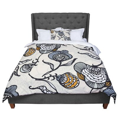 Gill Eggleston Future Nouveau Lite Comforter Size: King, Color: Black/White