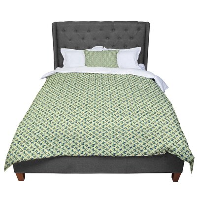 Holly Helgeson Flutterby Lime Comforter Size: Twin