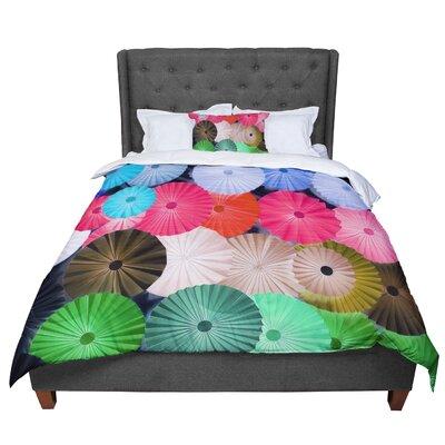 Heidi Jennings Parasol Paper Circle Comforter Size: Queen