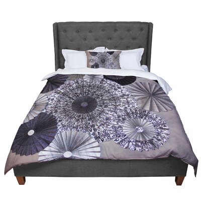 Heidi Jennings Shadows Circles Comforter Size: King