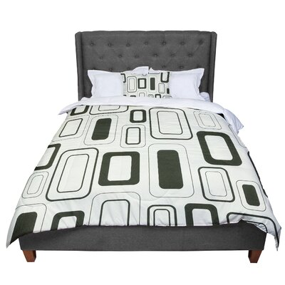 Heidi Jennings Cubes For Days Neutral Comforter Size: Queen