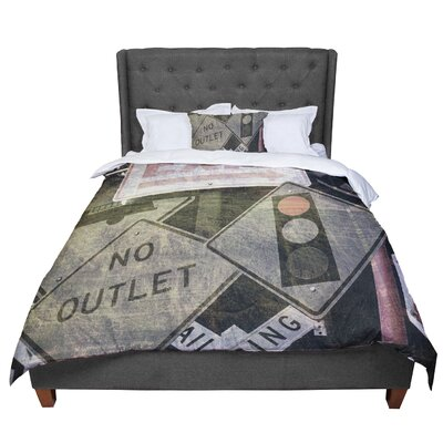 Heidi Jennings City Outing Urban Signs Comforter Size: Queen