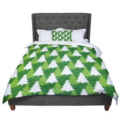 Heidi Jennnings Pine Forest Comforter Size: Queen