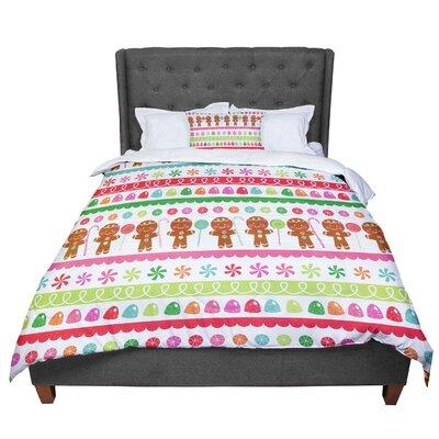 Heidi Jennnings Gumdrop Buttons Gingerbread Comforter Size: King