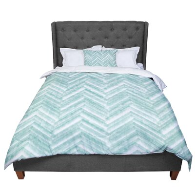 Heidi Jennings Painted Chevron Comforter Size: Queen