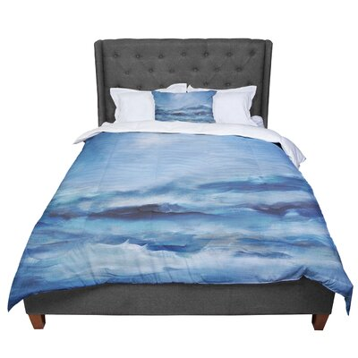 Iris Lehnhardt Rough Sea Ocean Comforter Size: Twin
