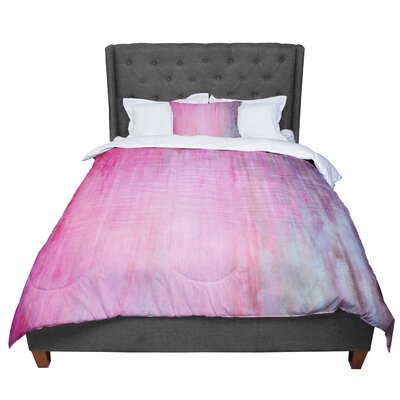 Iris Lehnhardt Color Wash Blush Paint Comforter Size: King, Color: Pink