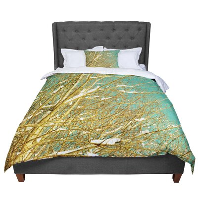Iris Lehnhardt Snow Covered Twigs Comforter Size: Queen