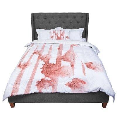 Iris Lehnhardt Marsala Watercolor Comforter Size: King