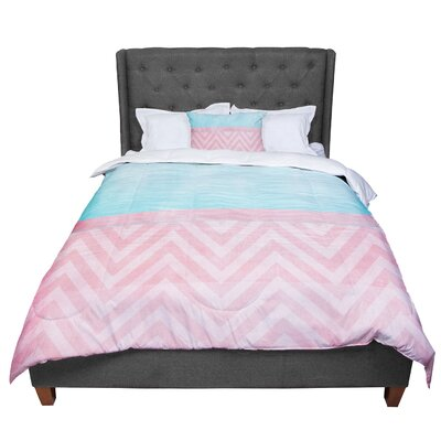 Ingrid Beddoes Chevron Comforter Size: Twin
