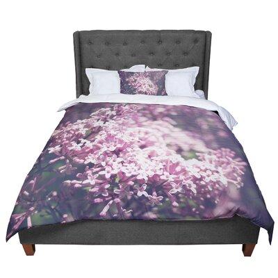 Jillian Audrey Lilacs Floral Comforter Size: King