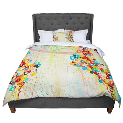 Ebi Emporium Summer In Bloom Comforter Size: King