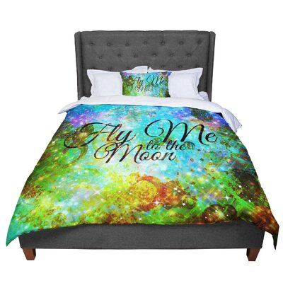 Ebi Emporium Fly Me To The Moon Comforter Size: Queen