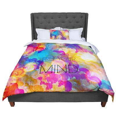 Ebi Emporium Free Your Mind Comforter Size: Twin, Color: Rainbow