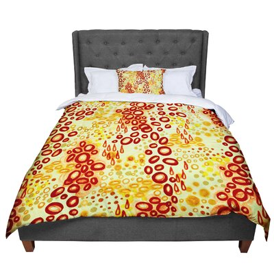 Ebi Emporium Circular Persuasion Comforter Size: King, Color: Yellow