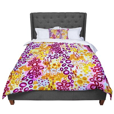 Ebi Emporium Circular Persuasion Purple Yellow Pink Comforter Size: Twin