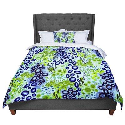 Ebi Emporium Circular Persuasion Comforter Size: Queen, Color: Aqua/Turquoise