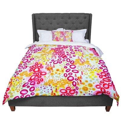 Ebi Emporium Circular Persuasion Pink Yellow Magenta Comforter Size: Queen