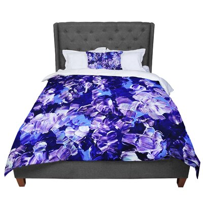 Ebi Emporium Floral Fantasy II Comforter Size: Queen, Color: Purple