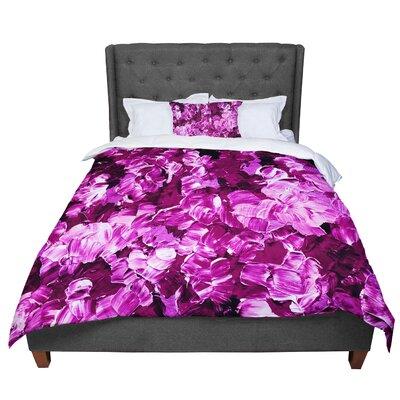 Ebi Emporium Floral Fantasy II Comforter Size: King, Color: Magenta