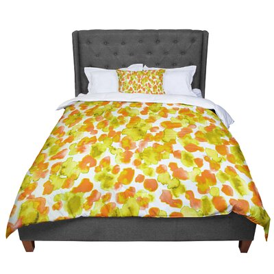 Ebi Emporium Giraffe Spots Comforter Size: King, Color: Orange/Yellow