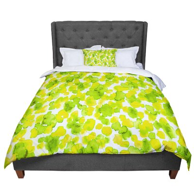 Ebi Emporium Giraffe Spots Comforter Size: King, Color: Green/Yellow
