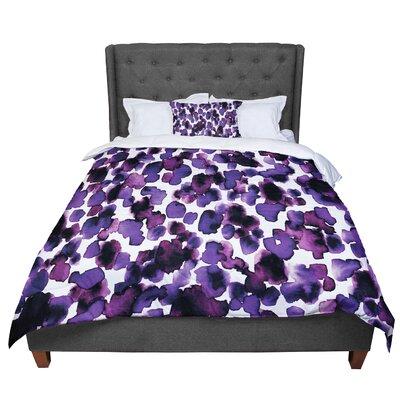 Ebi Emporium Giraffe Spots Comforter Size: King, Color: Lavender