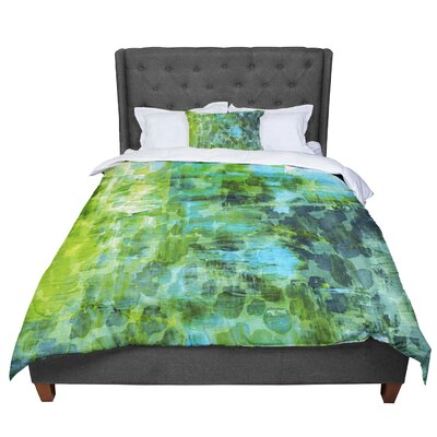 Ebi Emporium Pastel Jungle Comforter Size: Twin, Color: Green/Blue