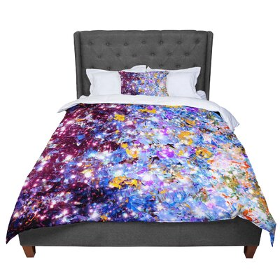 Ebi Emporium Mistletoe Nebula Comforter Size: King, Color: Blue/Purple