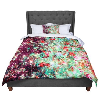 Ebi Emporium Mistletoe Nebula Comforter Size: Twin, Color: Red/Green