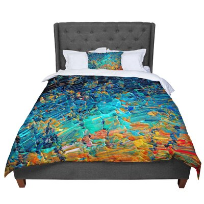 Ebi Emporium Eteranl Tide II Comforter Size: Queen, Color: Teal/Orange