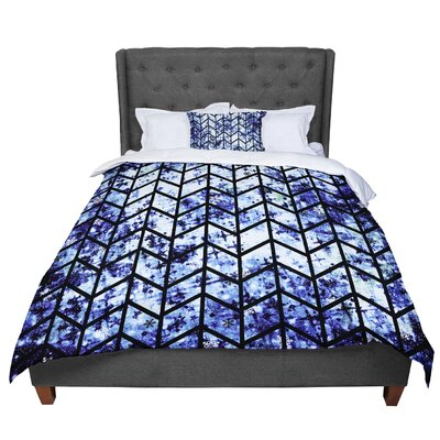 Ebi Emporium Chevron Wonderland II Comforter Size: King, Color: Blue/Black