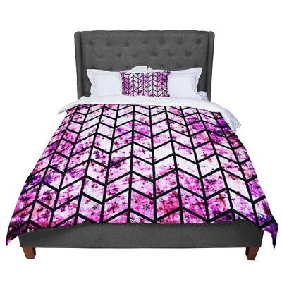 Ebi Emporium Chevron Wonderland II Comforter Size: Twin, Color: Pink/Black